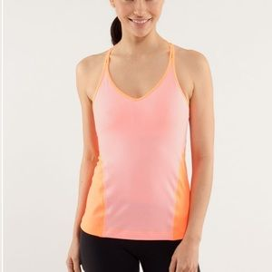 Lululemon Surya orange strappy tank top
